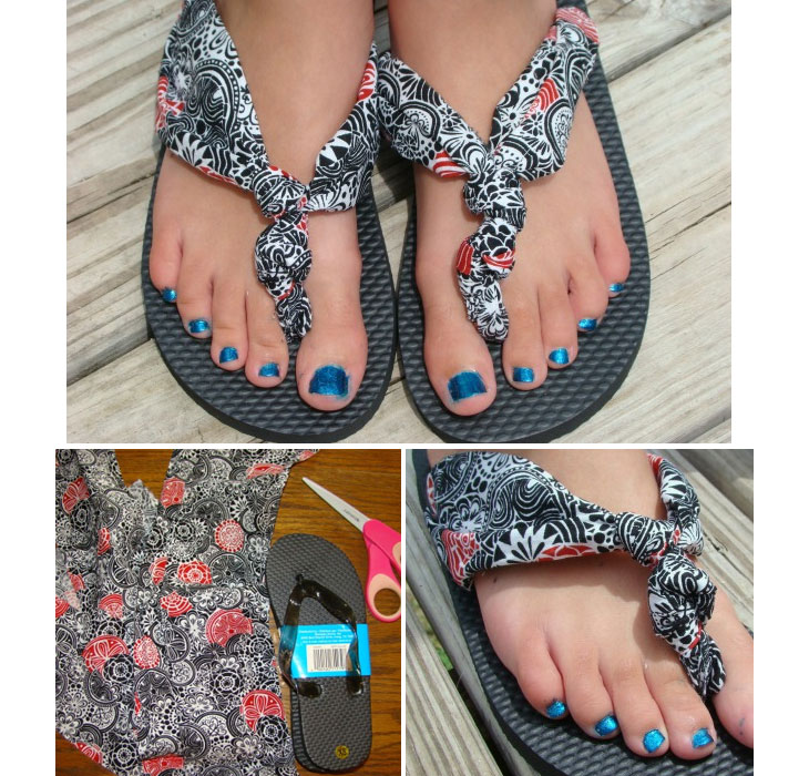 DIY-No-Sew-Clothes-Make-these-ultra-cool-fabric-flip-flops 18 Adorable Diy Summer Flip Flops For Girls 18 Adorable Diy Summer Flip Flops For Girls DIY No Sew Clothes Make these ultra cool fabric flip flops