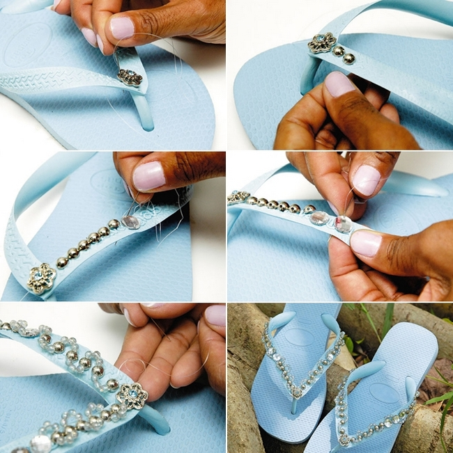 blue-rubber-flip-flops-decorating-beads-rhinestones 18 Adorable Diy Summer Flip Flops For Girls 18 Adorable Diy Summer Flip Flops For Girls blue rubber flip flops decorating beads rhinestones
