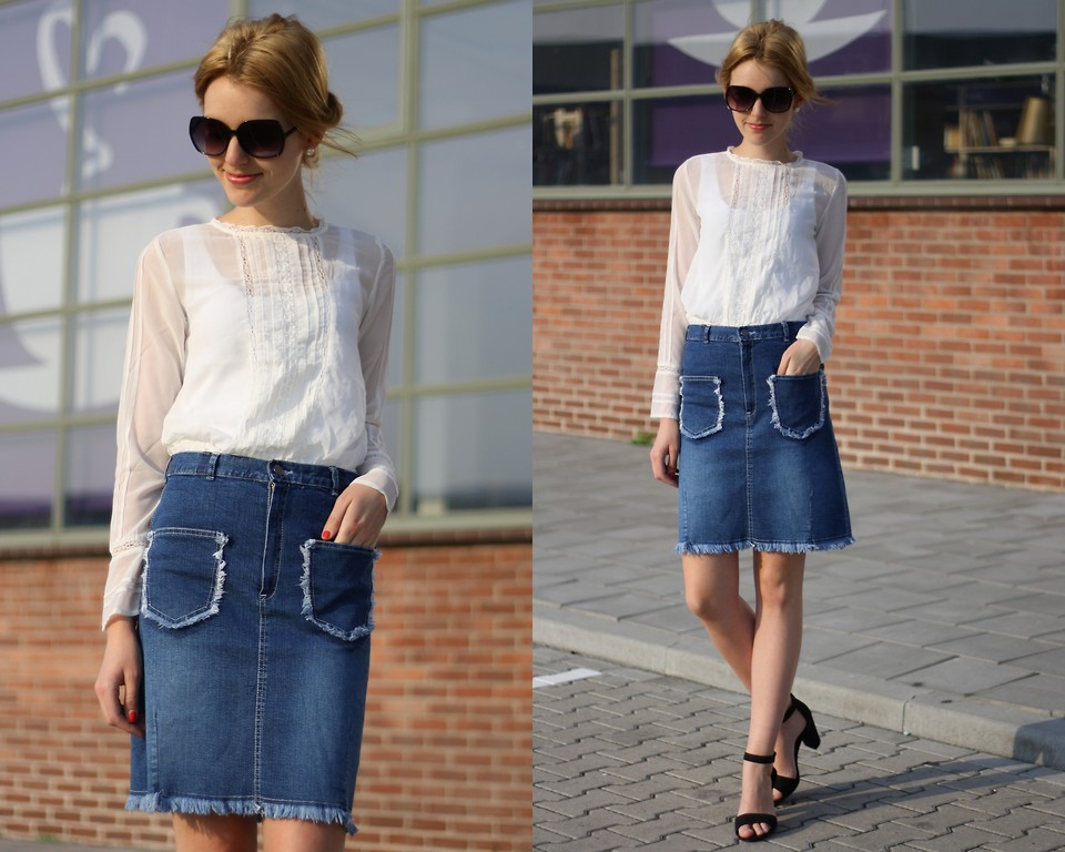denim skirt Perfect Skirt Styles For Your Body Type Perfect Skirt Styles For Your Body Type denim skirt