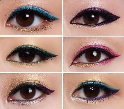 Glittery-Eyeliner-Looks Fabulous Colourful Eyeliner Looks For 2015 & 2016 Fabulous Colourful Eyeliner Looks For 2015 & 2016 Glittery Eyeliner Looks