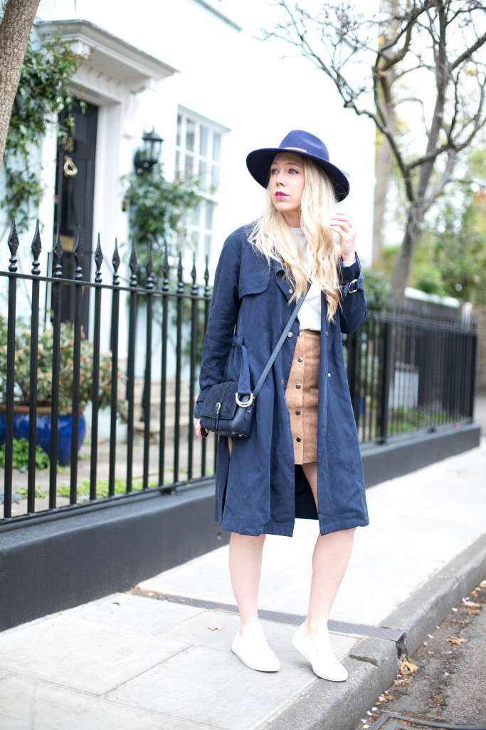 SUEDE_SKIRT_FCUK_TRENCH 20 Suede Skirts With Stylish Outfit Ideas For Fall 2015 20 Suede Skirts With Stylish Outfit Ideas For Fall 2015 SUEDE SKIRT FCUK TRENCH