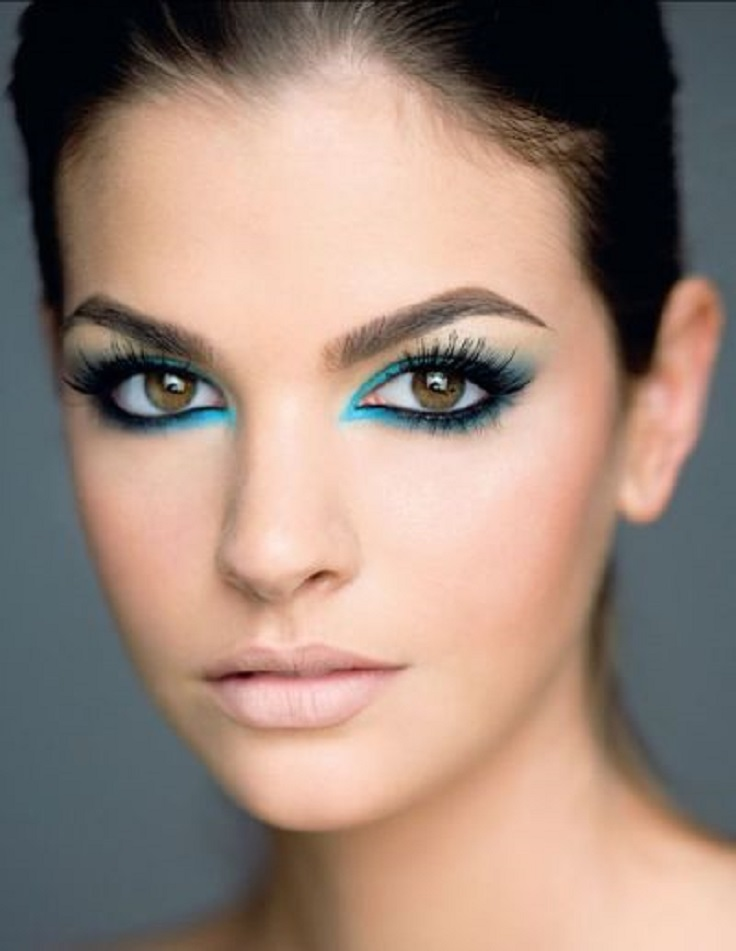 blue-party-makeup Fabulous Colourful Eyeliner Looks For 2015 & 2016 Fabulous Colourful Eyeliner Looks For 2015 & 2016 blue party makeup