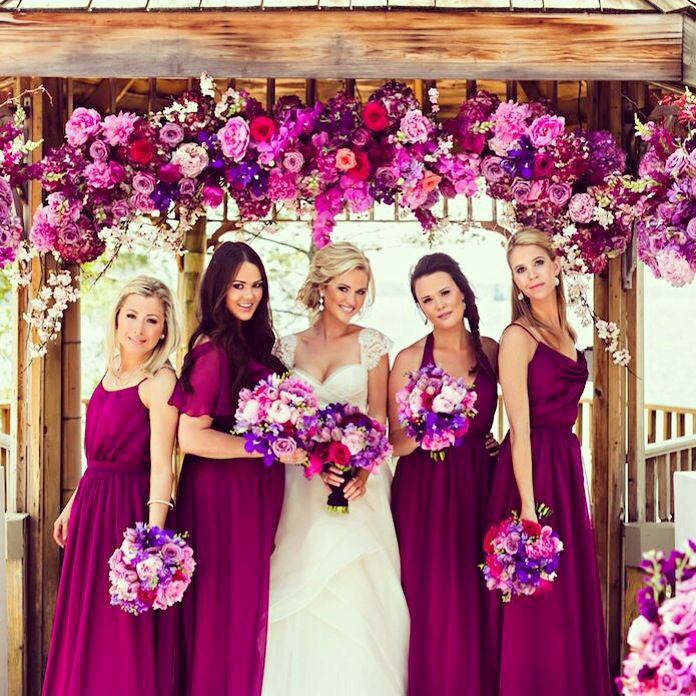 Must have winter bridesmaid dresses for Winter wedding colors for bridesmaids dresses