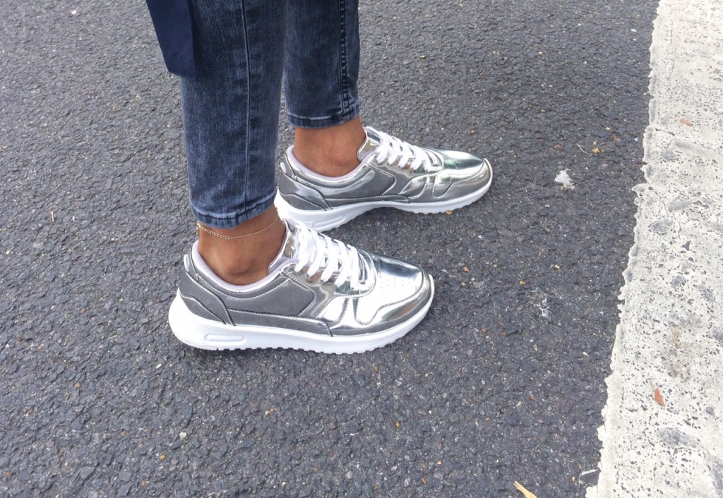 Metallic-trainers-2 How To Wear Metallic Shoes How To Wear Metallic Shoes Metallic trainers 2