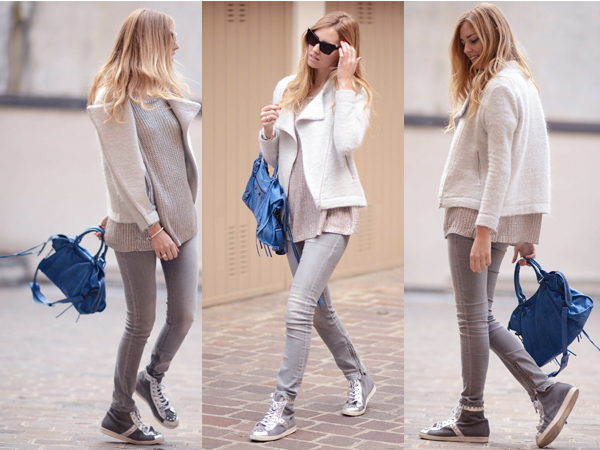 street-style-grey-knit-sweater-blue-bag-light-grey-skinny-jeans-grey-high-tops-black-sunglasses-ivory-coat-1  The Statement Bag: 8 Bright Handbags You'll Love street style grey knit sweater blue bag light grey skinny jeans grey high tops black sunglasses ivory coat 1