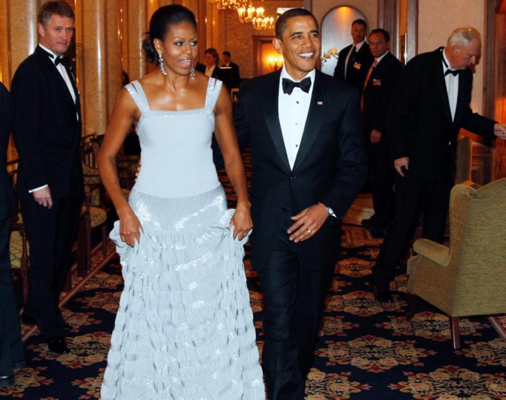 sequined gown by Peter Soronsen. Courtesy of ladisav.com  Michelle Obama's favorite designers Michelle Obama 15