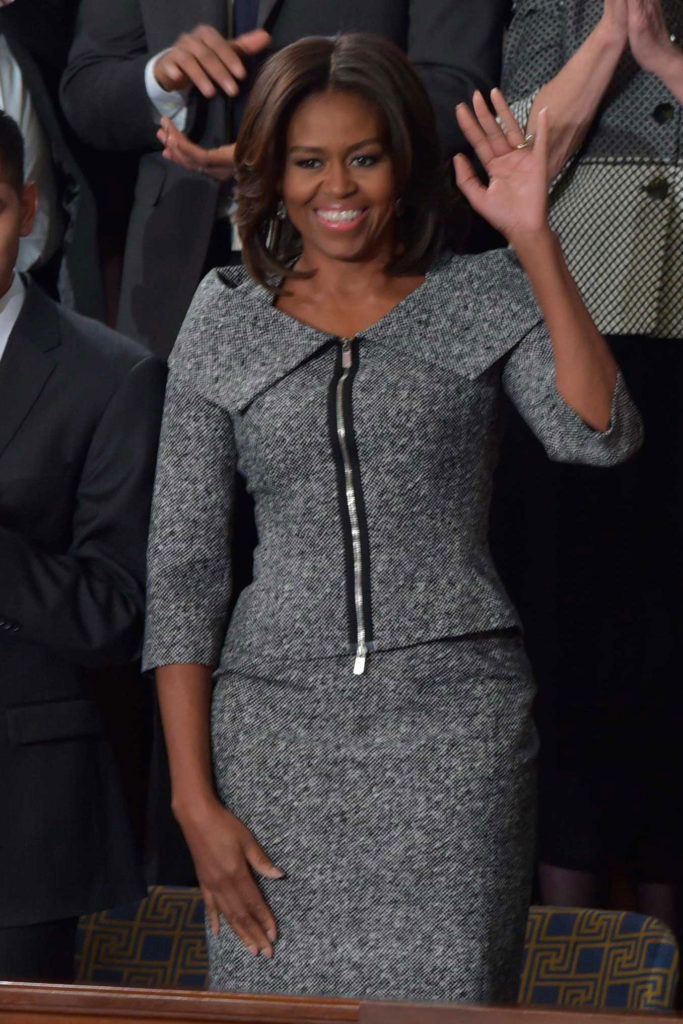 Michelle Obama in Michael Kors tweed suit  Michelle Obama's favorite designers Michelle Obama 21