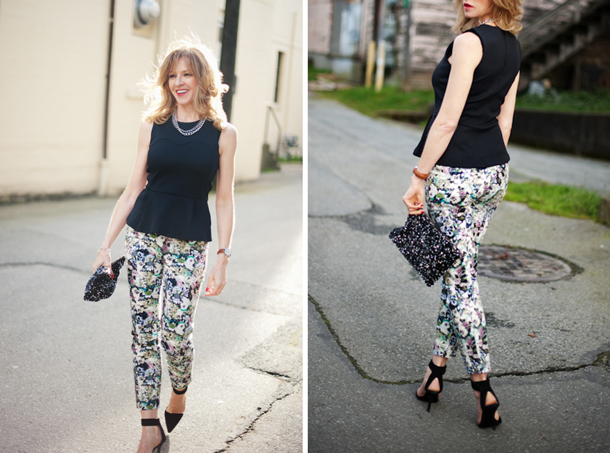 Floral pants outfit. Courtesy of Style Lounge  Best summer fashion styles for 2016 floral pants e4