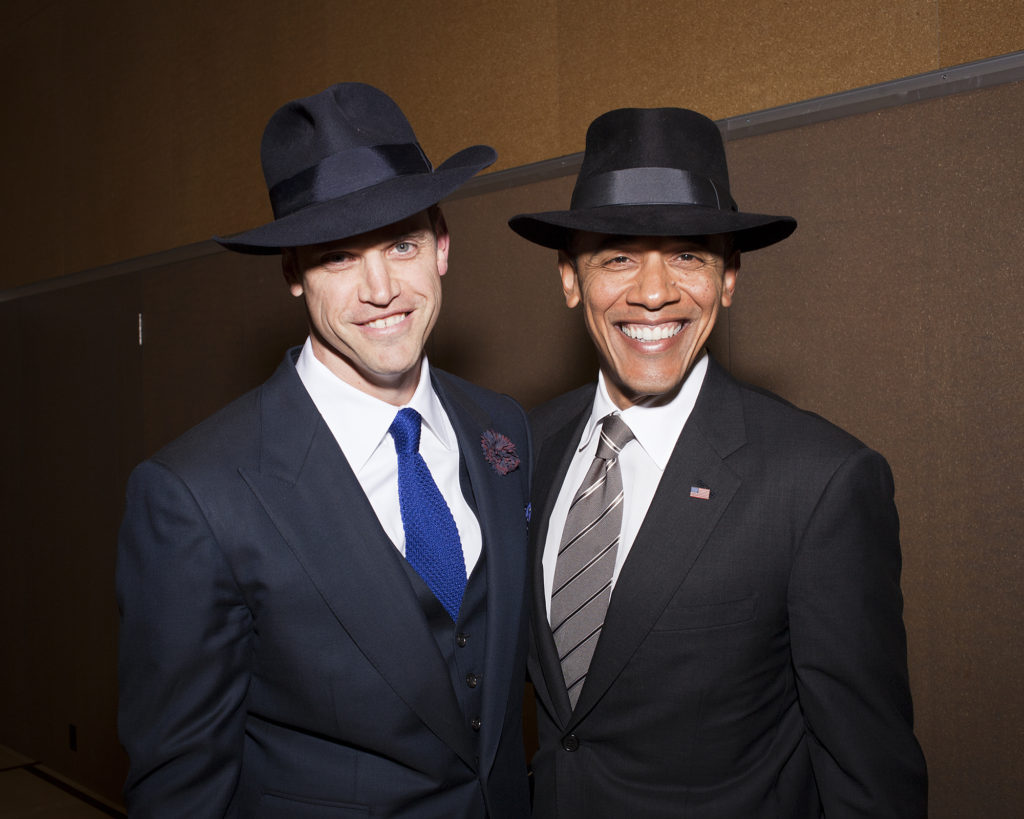 President Barack Obama in the classic Fedora style. Courtesy thebolditalic.com  Trendy hat styles for all occasions obama smiles